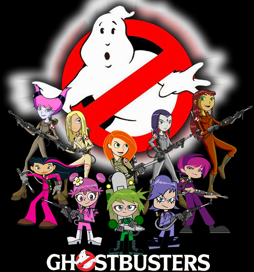 My girls ghostbusters team by mayozilla