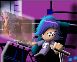 YUMI in robot VS GODZILLA by mayozilla