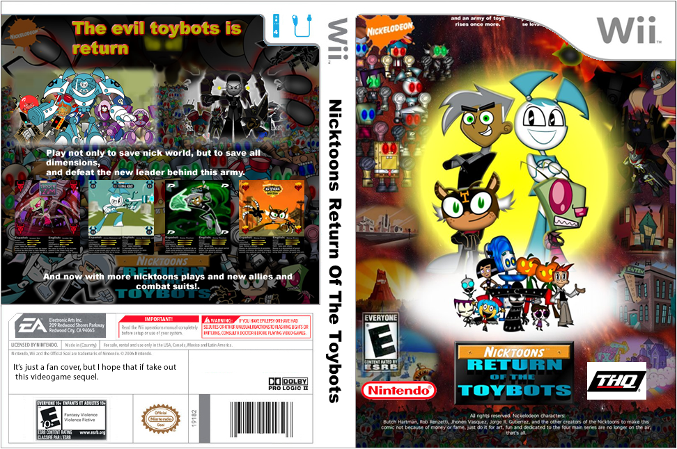 Fan Nicktoons Return Of The Toybots Wii By Mayozilla On Deviantart