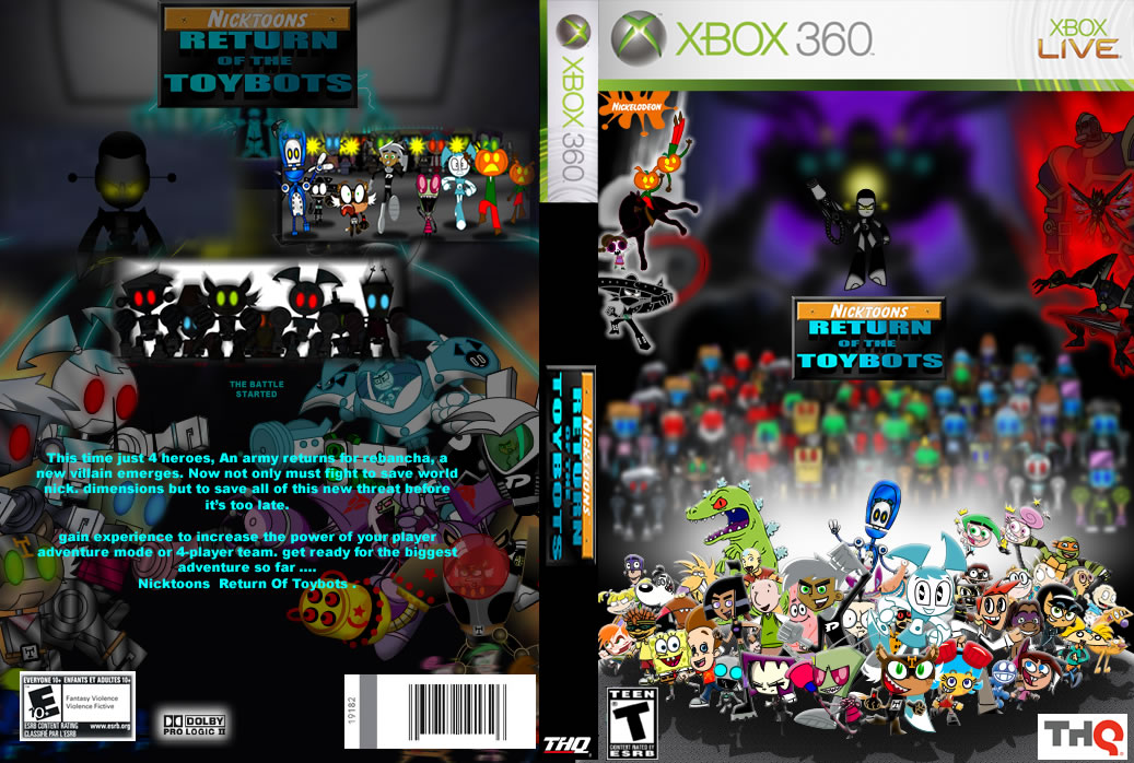 Fan Nicktoons Return Of The Toybots Xbox 360 By Mayozilla On Deviantart