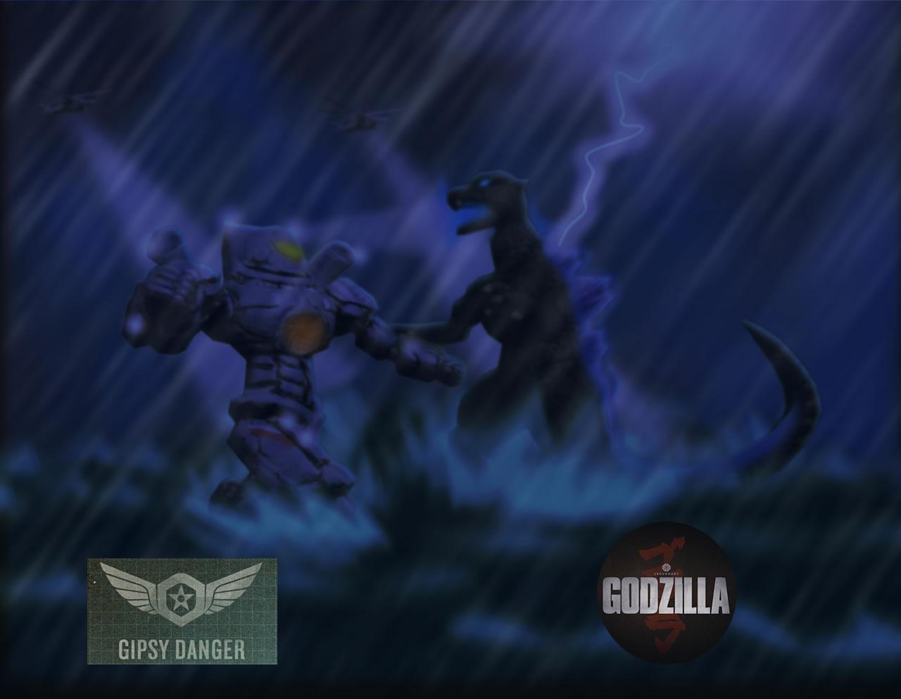 Godzilla 2014 Vs Slatt...