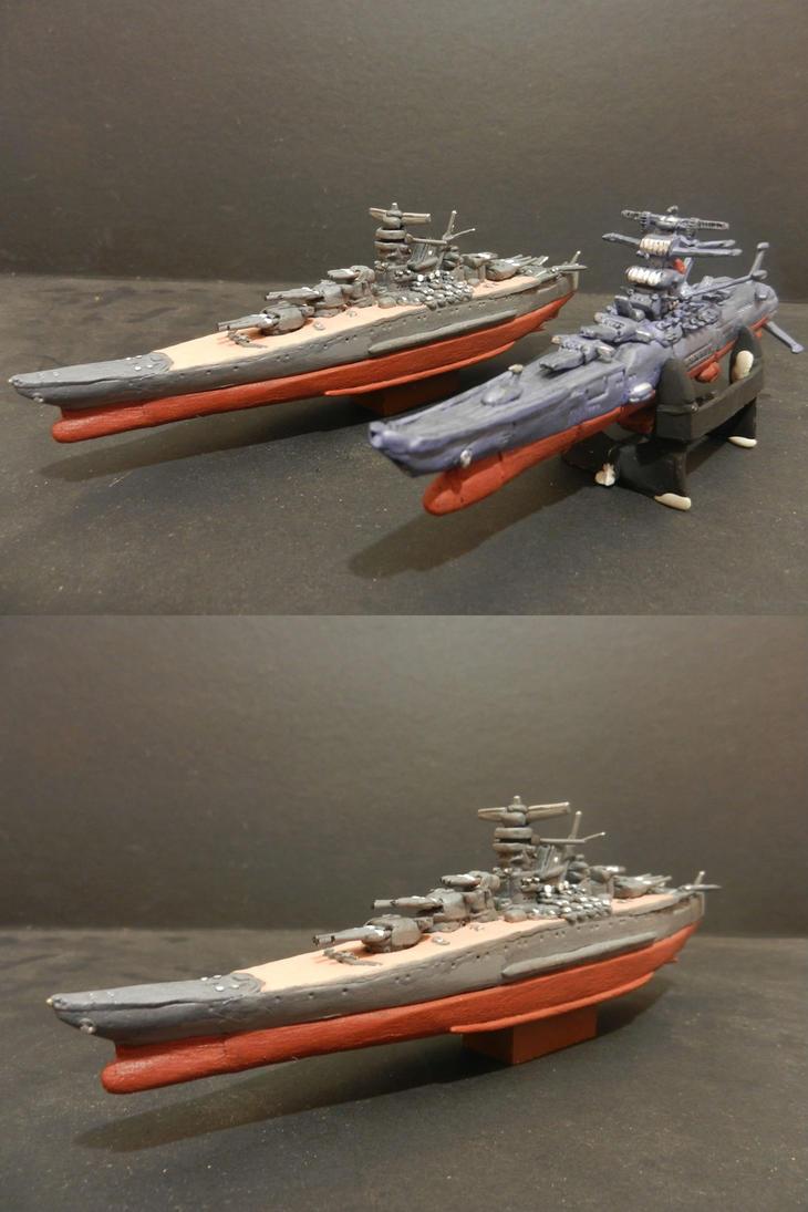 2 Yamato battleship and space by mayozilla