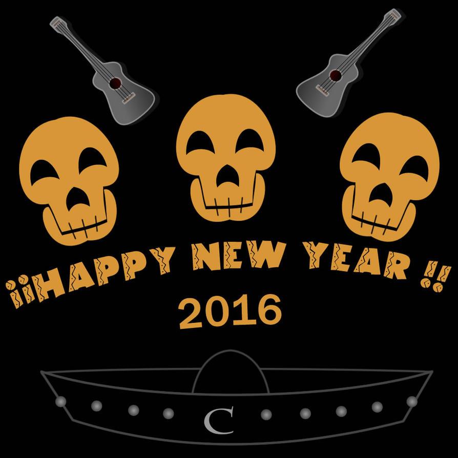 happy new year 2016 by mayozilla