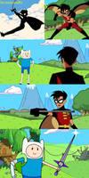 Finn vs robin Tim drake
