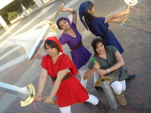 Four Swords Cosplay AX 2007 by SapphireWolf22