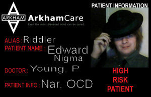 Arkham asylum Riddler ID by AcE-oFkNaVeS