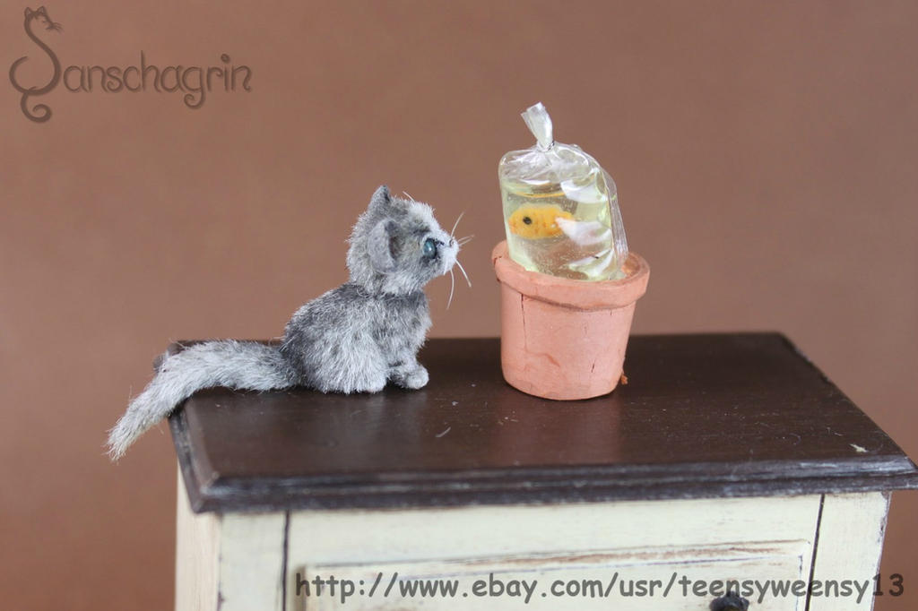 Miniature Kitten OOAk by Teensyweensybaby