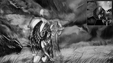 Fallen Angel #MadeWithPicsArt
