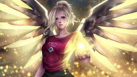 Engh Mercy + Speedpaint by MilkaElRinka