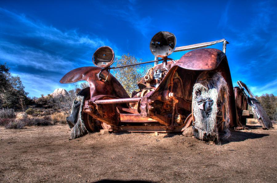 Joshua Tree Nationl Park Old Car by joshuadschrock