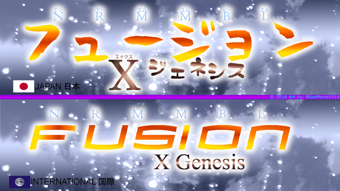 NRMMBL: Fusion X Genesis JP-INT Logos by BlueMario1016