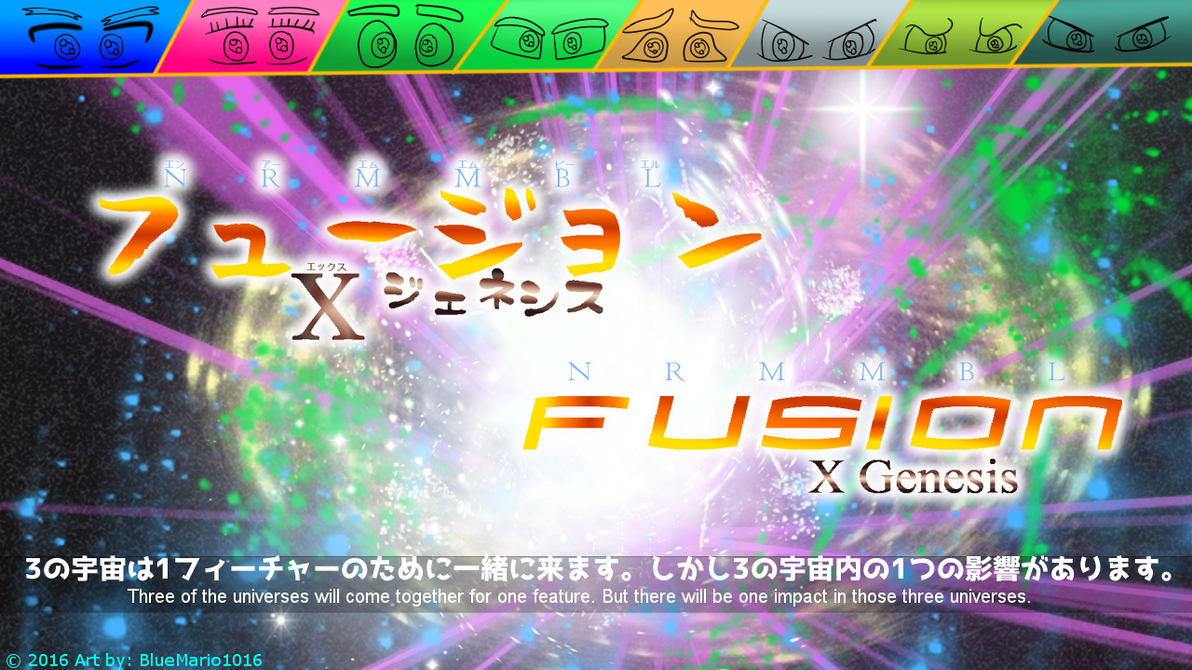NRMMBL: Fusion X Genesis concept anime art piece 2 by BlueMario1016