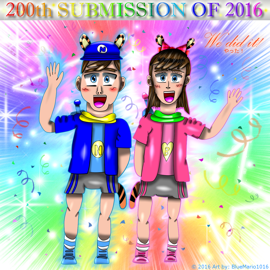 We did it! (200th submission of 2016) by BlueMario1016