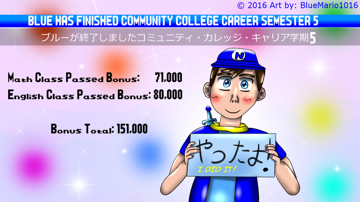 Community College Career Semester 5 Finished by BlueMario1016