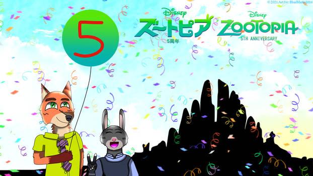 Zootopia 5th anniversary!