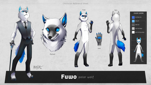 Fuwo character reference sheet