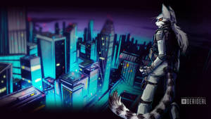 Alpha and the City Wallpaper