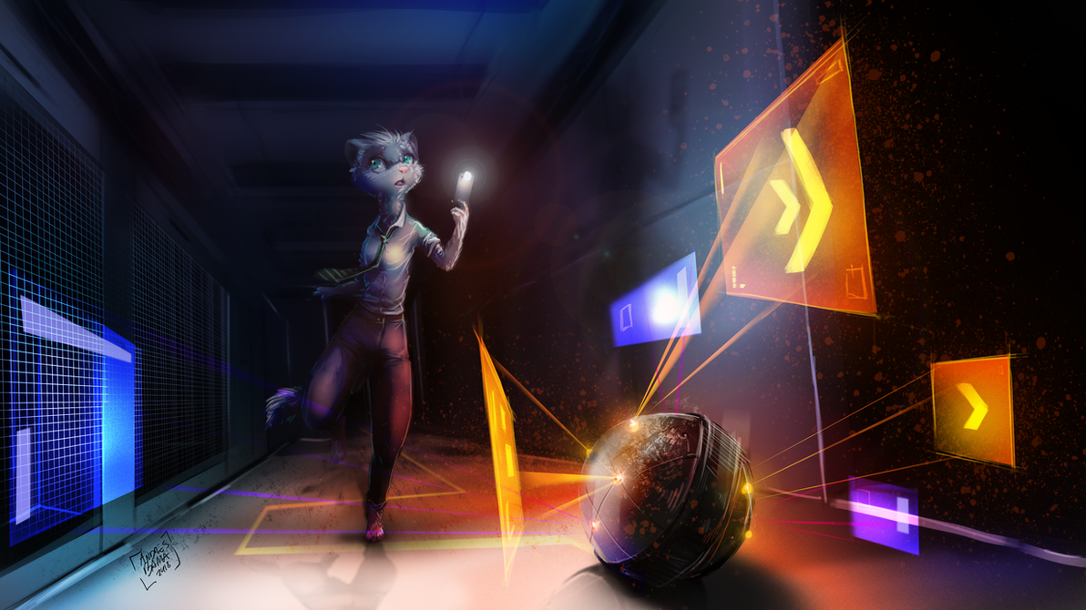 Aimee Slink the ferret by Kiaun