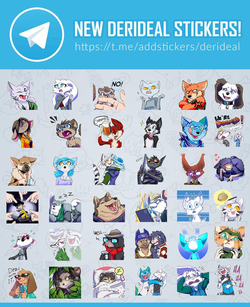 Derideal Telegram stickers by Kiaun