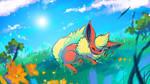 Sleeping Flareon