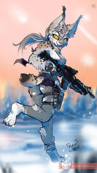 Soldier Lynx pinup by Kiaun
