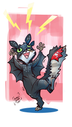 Raku toothless onesie by Kiaun