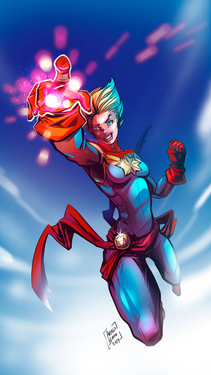 Captain Marvel by Kiaun