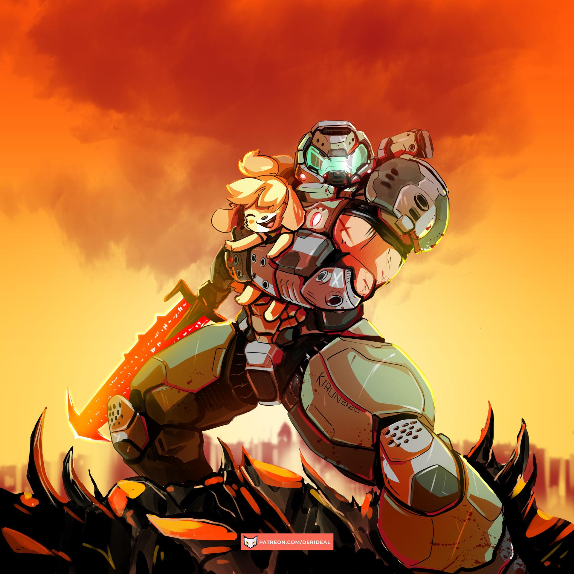 Doom Eternal Animal Crossing By Kiaun On Deviantart