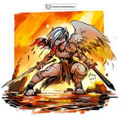 Winged gladiator