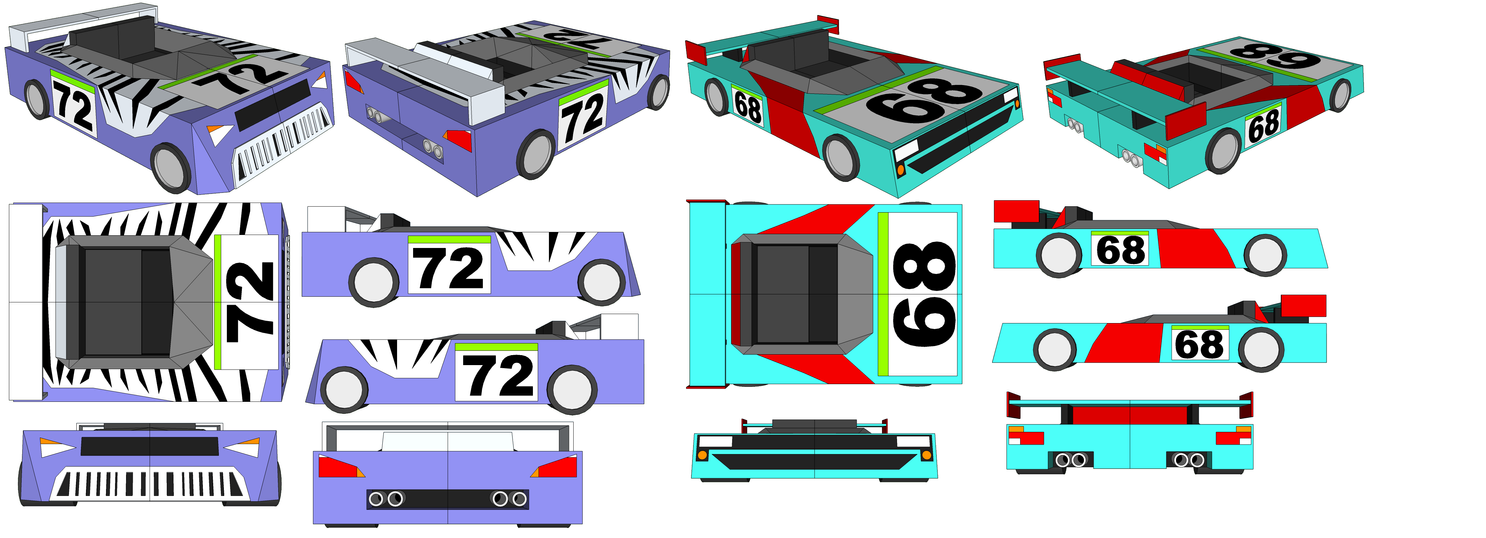 SketchUp Models - Leonhalt's Car and Sheen's Car by TeamFaustGames