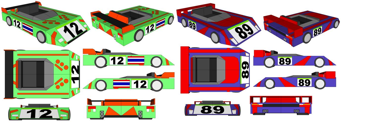 SketchUp Models - Samchay's Car and Sagat's Car by TeamFaustGames