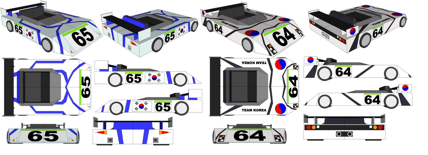 SketchUp - Kim Kaphwan's Car and Han Baedal's Car by TeamFaustGames