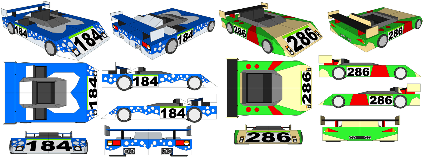 SketchUp - 3 XXL Azumarills' Car and Breloom's Car by TeamFaustGames