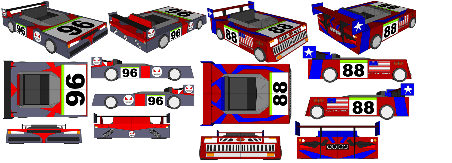 SketchUp Models - Berserker's Car and Bill's Car by TeamFaustGames
