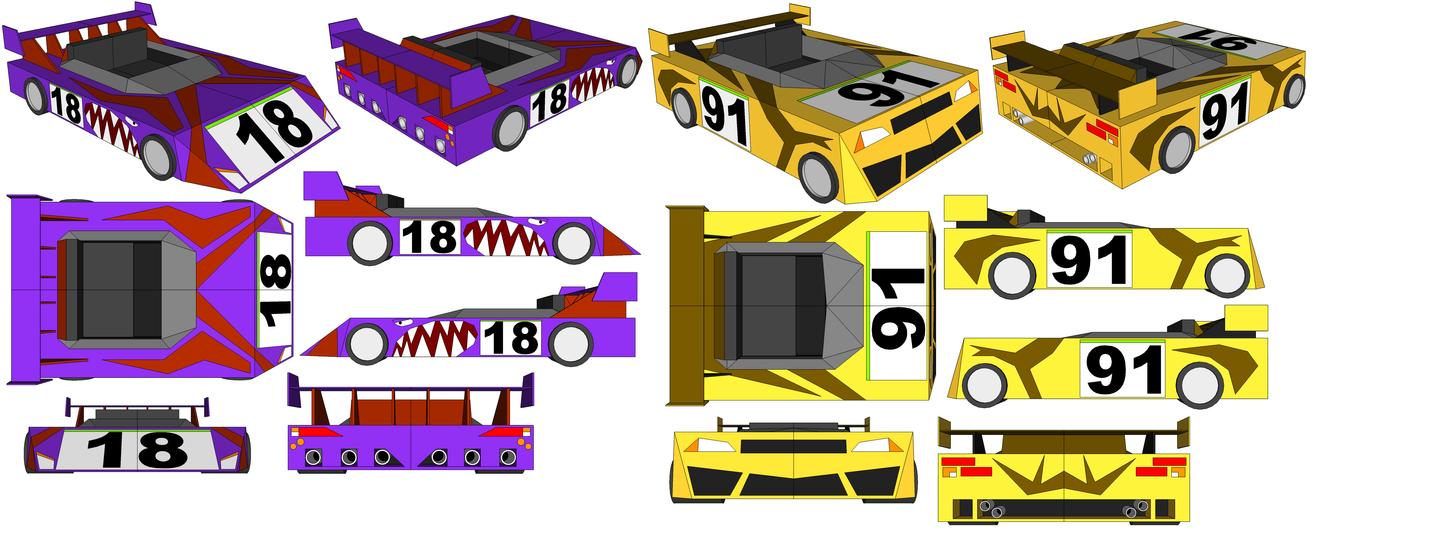 SketchUp Models - Garner's Car and Mozard's Car by TeamFaustGames
