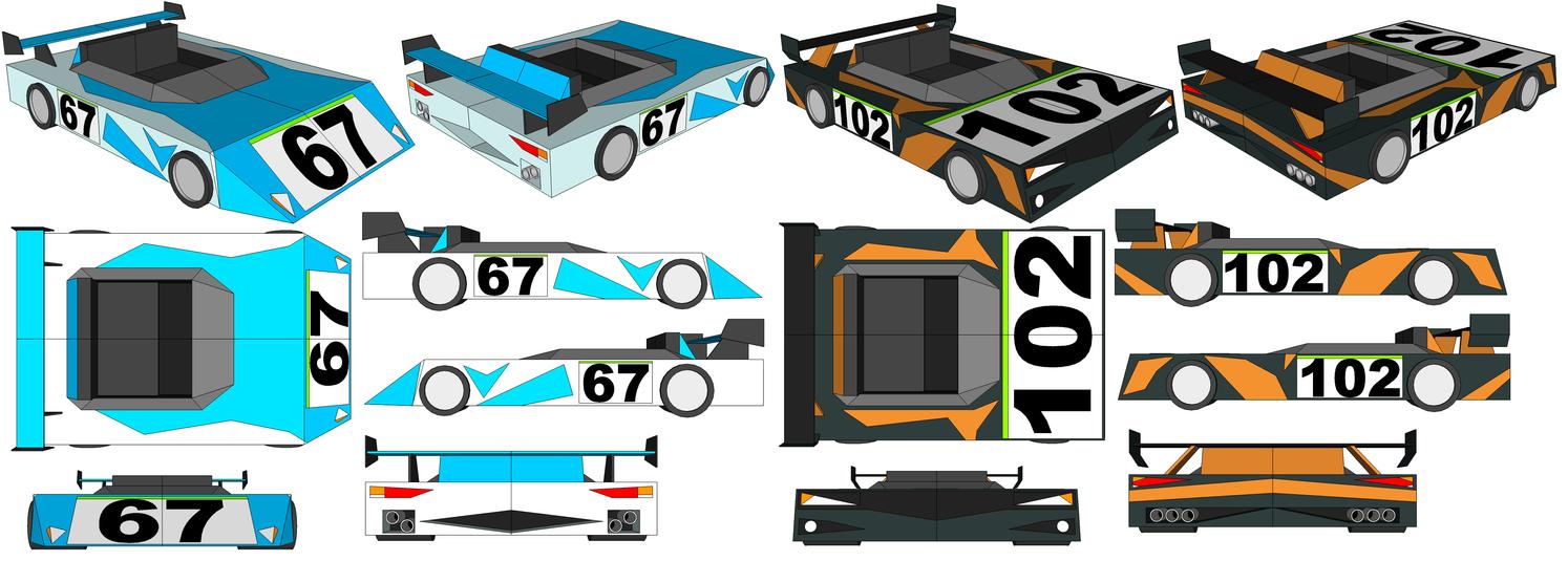 SketchUp Models - Glacius' Car and Fulgore's Car by TeamFaustGames