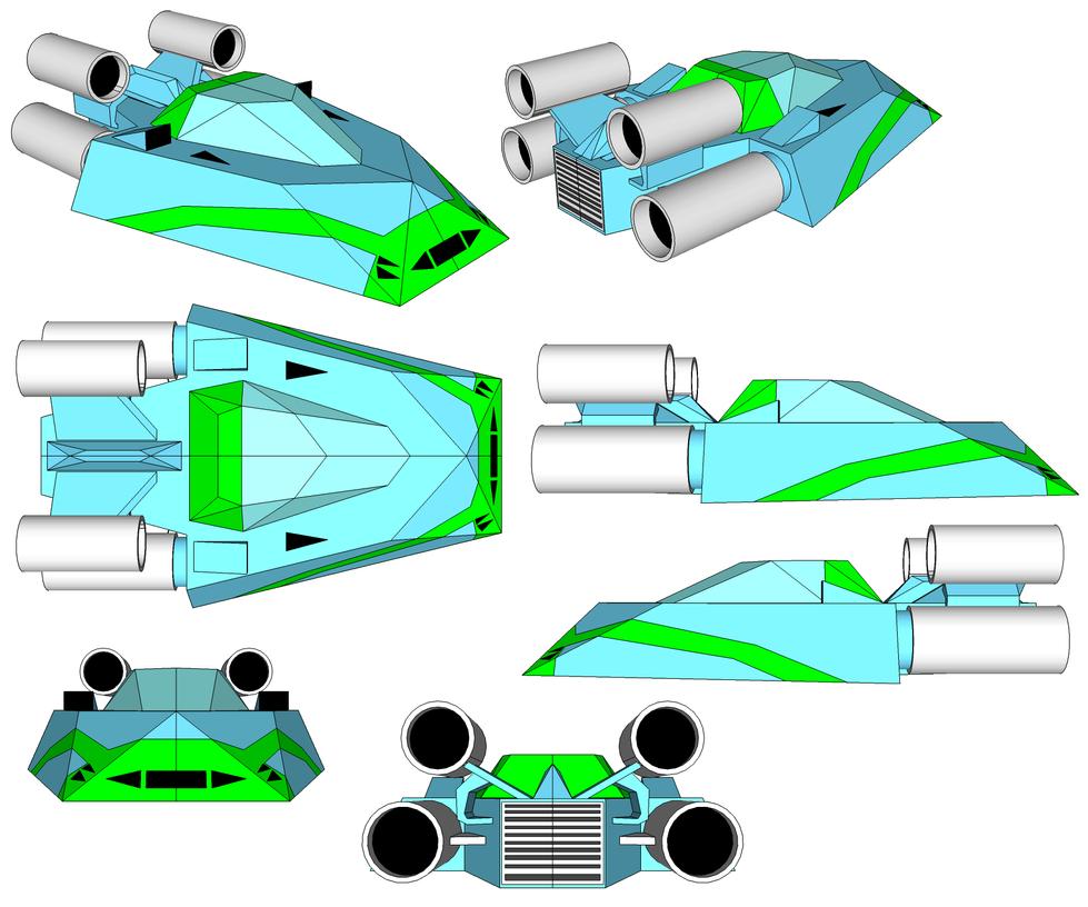 SketchUp Model - Cyan Machine by TeamFaustGames