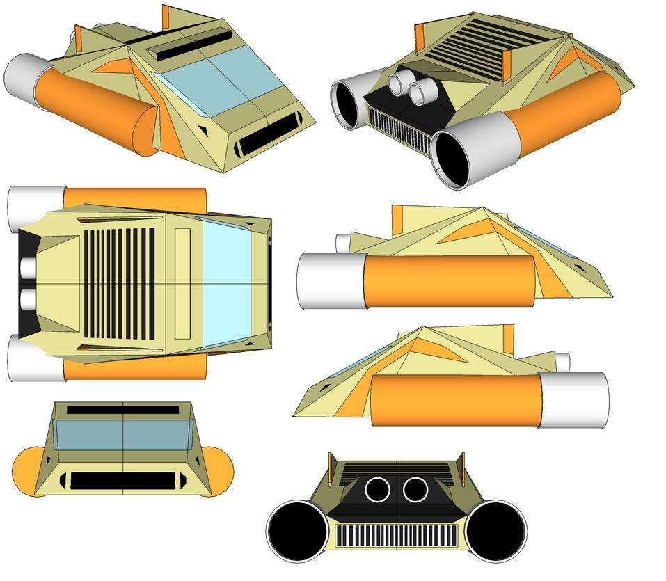 SketchUp Model - Beige Machine by TeamFaustGames