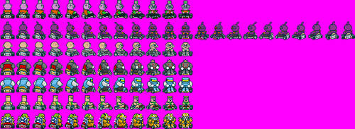 Sprite Edits - TFG Villains Characters SMK-Style