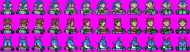 Sprite Edits - 3 Characters (SMK-Style)