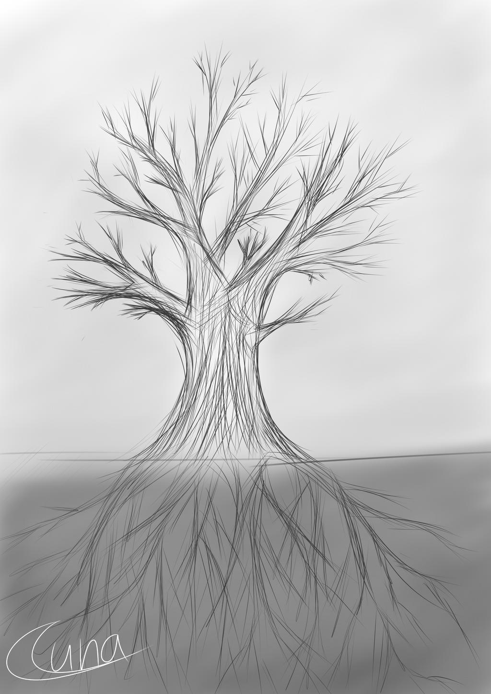 greytones tree sketch by luna4s on deviantart