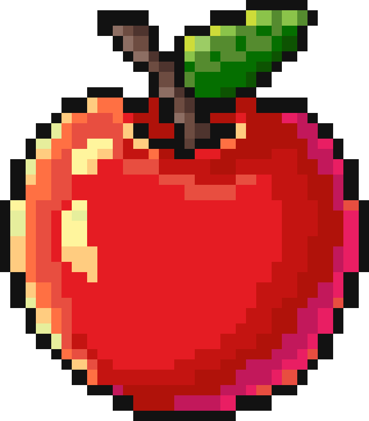 Pixelart Apple By Luna4s On DeviantArt