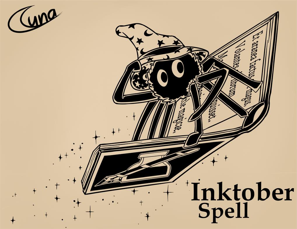 Inktober - Spell Book by Luna4s
