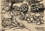 Inktober - Flowing River