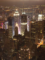 Glow of Times Square by trowlandson
