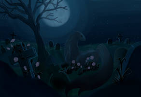 Quiet Moonlit Night by Star-Squiddle