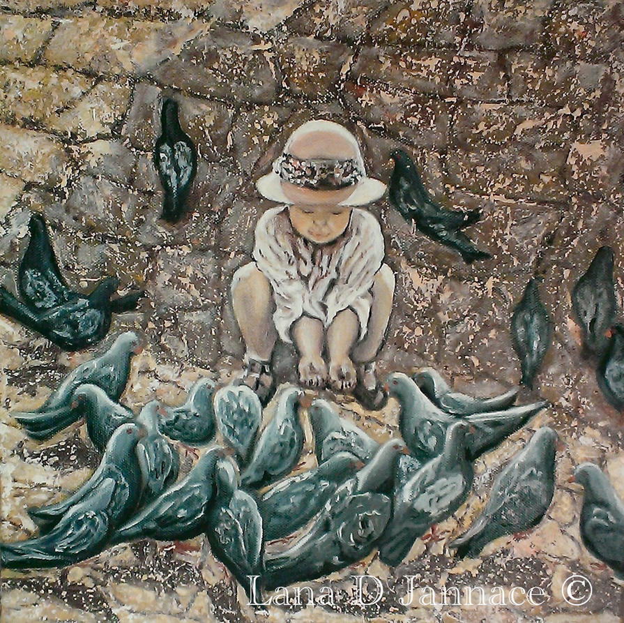 Kid  pigeons by lanadj07