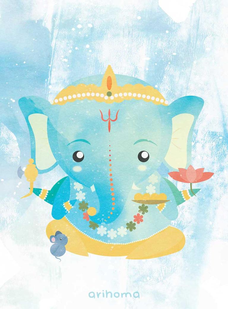Lord Ganesh II by arihoma