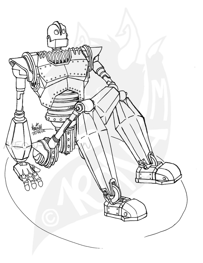 coloring pages iron giant boy - photo#15