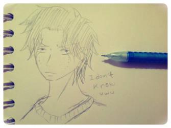 Sketch portgas d. Ace by shadowthehedgehog275